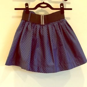 Belted Mini Circle Skirt